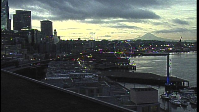 Beautiful view from our Waterfront cam this AM. Love seeing Mt. Rainier out there. Expect partly sunny skies today.