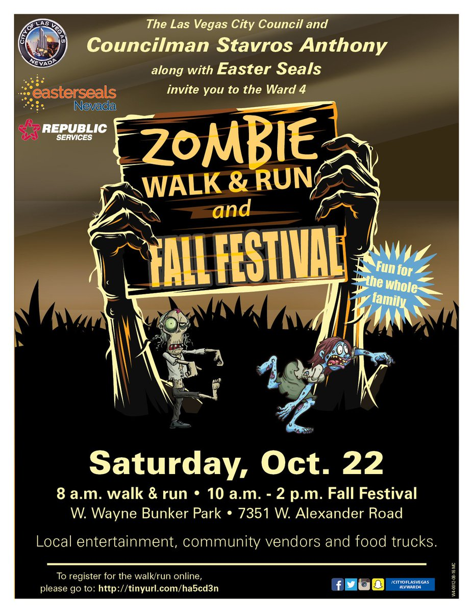 city of las vegas on twitter get in the halloween spirit with the zombie 5k fun run and fall festival today at wayne bunker family park