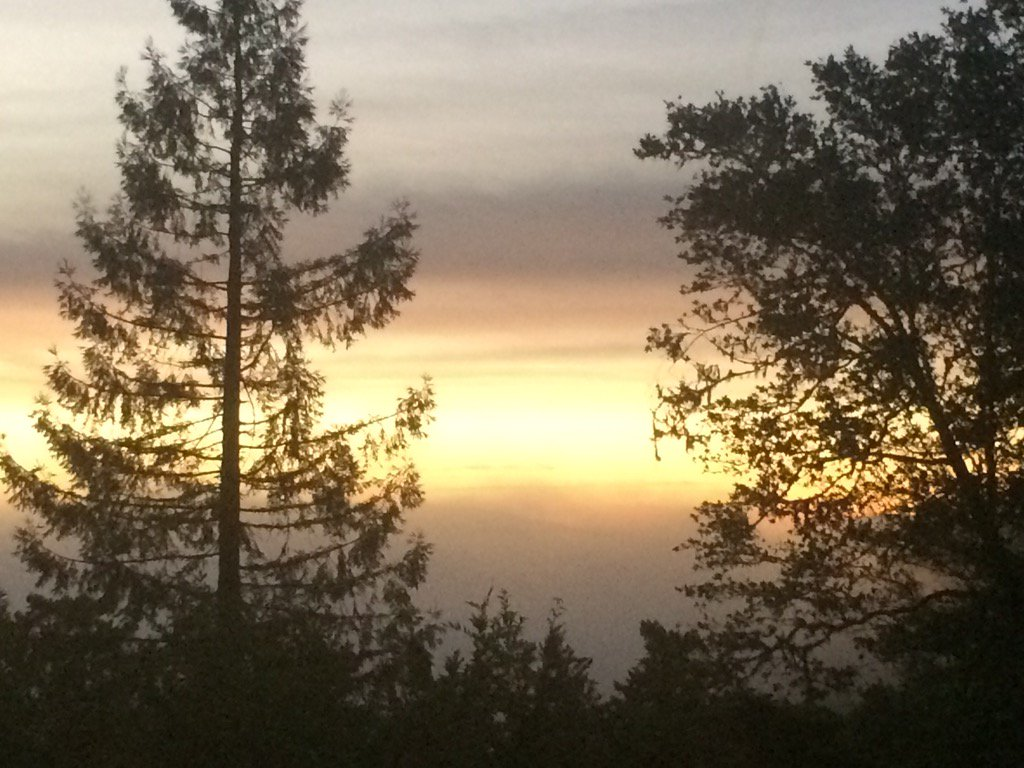 If the day is anything like the sunrise, we're in for a beautiful day. From Inverness Ridge Marin County.@nbcbayarea