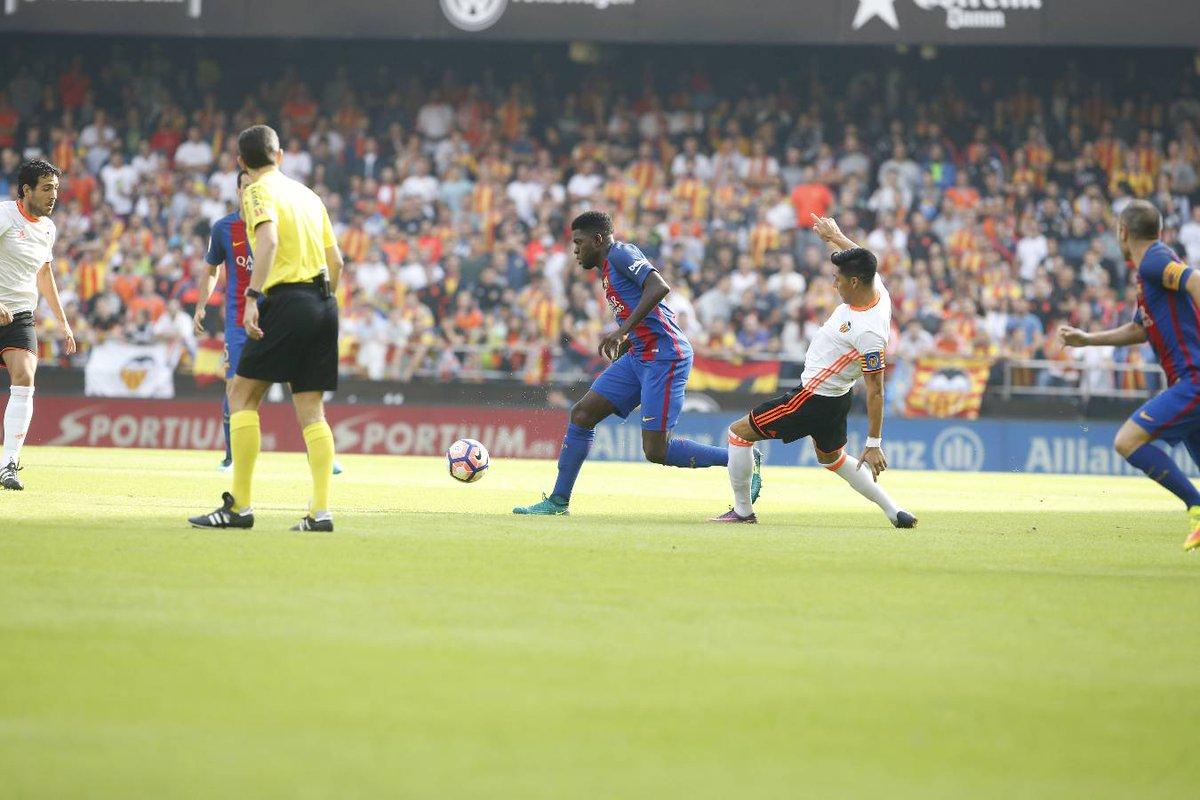 هدف فالنسيا الثاني في مرمى برشلونة