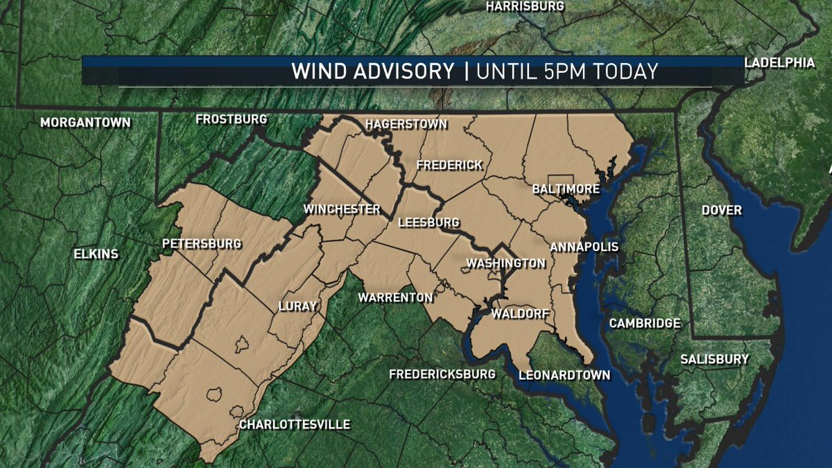 STRONG WINDS this Saturday afternoon w/gusts to 50mph. Possible power outages & tree damage. Secure outdoor items!