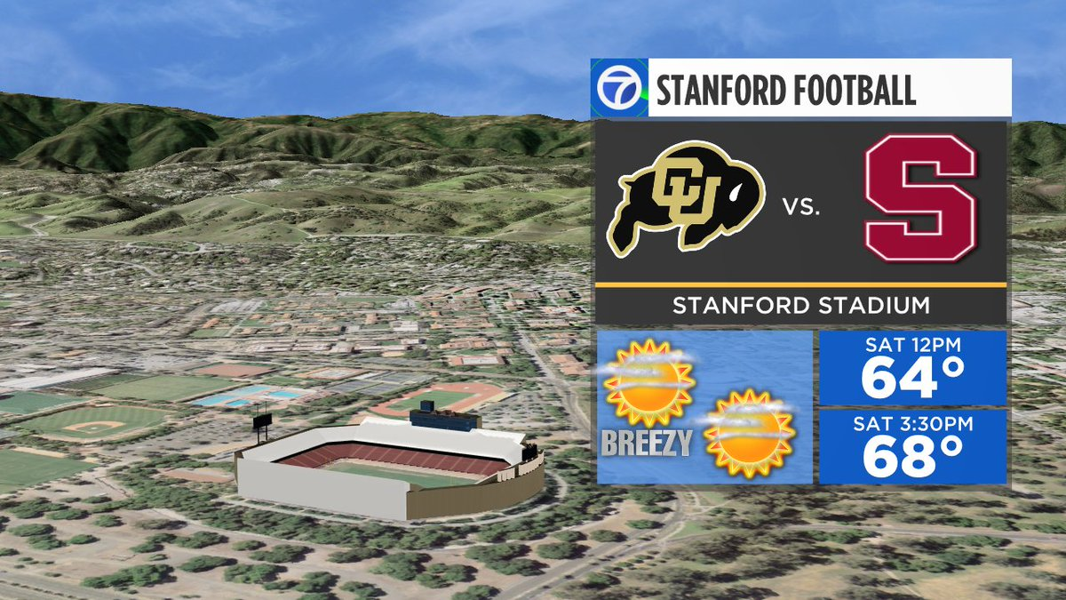 Time to tailgate on the Farm! Today's weather looks almost perfect. @Stanford @StanfordFball