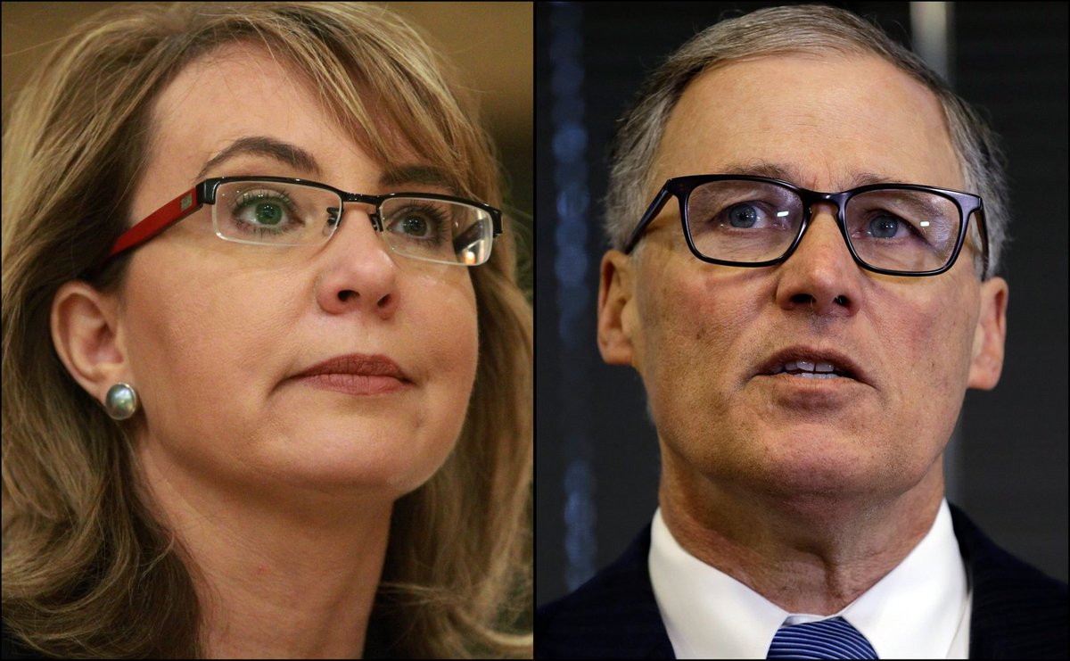 Today: Gabrielle Giffords and Gov. Inslee rally Seattle voters on gun initiative