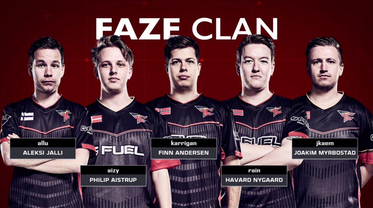 faze clan on twitter the new faze cs go lineup is in a must win