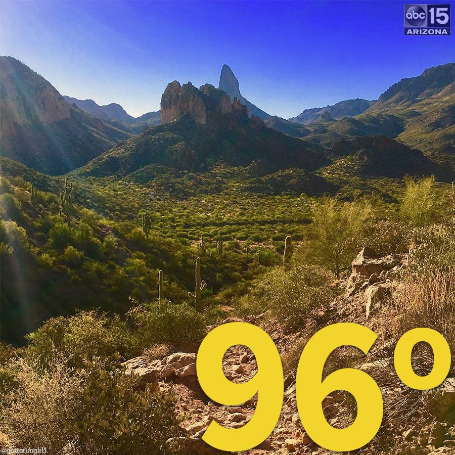 It's October 22... and today's high is set to be 96 DEGREES. abc15wx