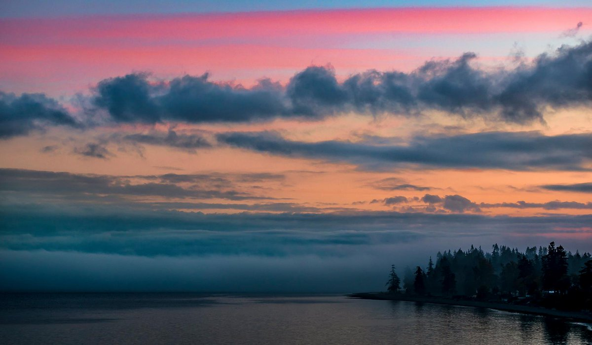 Lovely. Sunrise this morning in Birch Bay, Wash. Photo from Blanca C. Braun Photography.