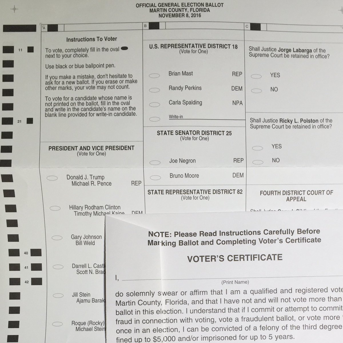 Voter sent me this. She's registered in 2 states. CT & FL. She can't be the only one/ w 2ballots. Fox10Phoenix