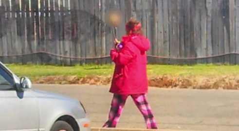 Woman with skull on stick leads Sacramento police to body