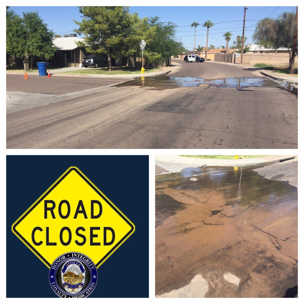 S. Beck Ave. is closed in both directions between W. 17th pl. and W. Broadway Rd. due to water main break. @Tempegov