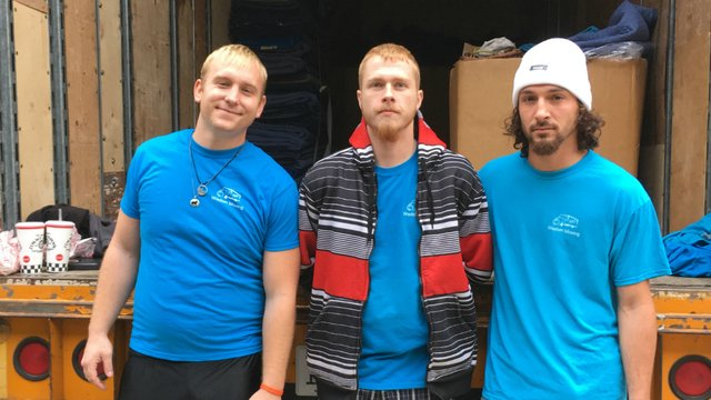 Movers credited with saving life of woman who was being chased by ex-boyfriend with gun
