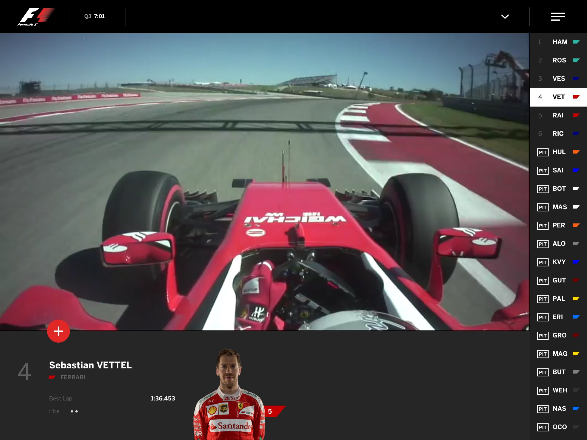 Throwback to 2016, when FOM tested an early F1 TV app