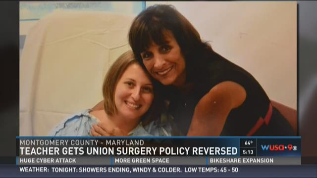 Teacher gets union surgery policy reversed