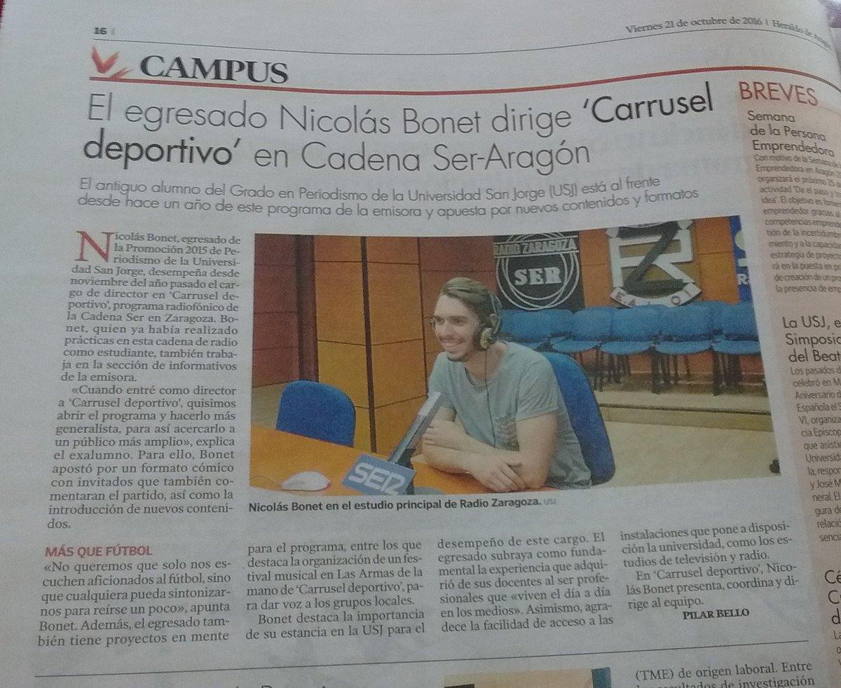 """Grande @NicoBonet93 en el @carrusel """"grande""""! Pero que siga en nuestro @CarruselAragonZ eh? 😉 https://t.co/gLn5IgufI9"""
