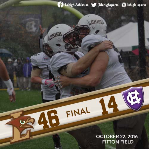 QUICK RECAP: Lehigh Train Keeps Chugging Through Worcester, Dominate Holy Cross In 46-14 Win