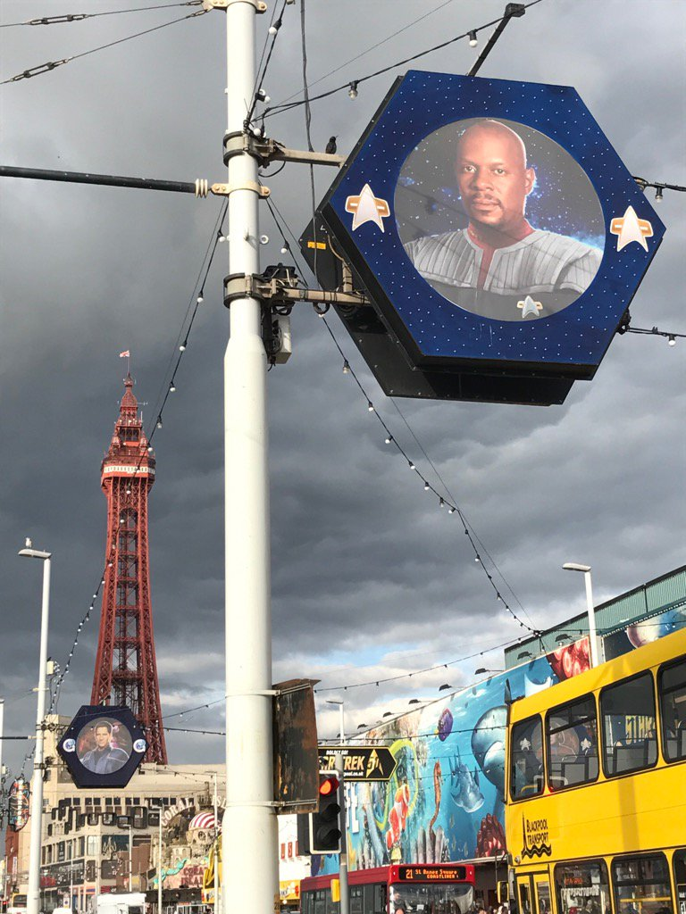 Amused that at the centre of the Blackpool Illuminations this year is a picture of Avery Brooks from Deep Space 9 https://t.co/ArAZD6vq8p