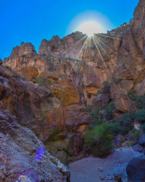 The cliffs above Fish Creek along the Apache Trail. <3 From our friend Stu Selden via Instagram BeOn12
