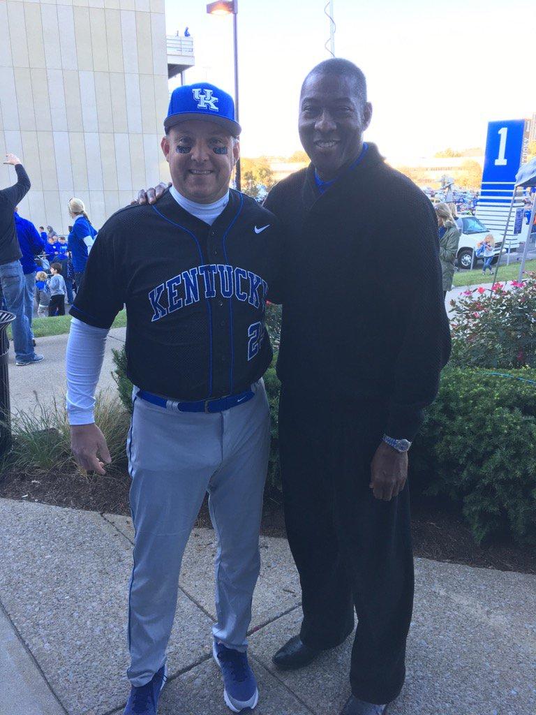Derrick Ramsey and baseball enthusiast Freddie Maggard.