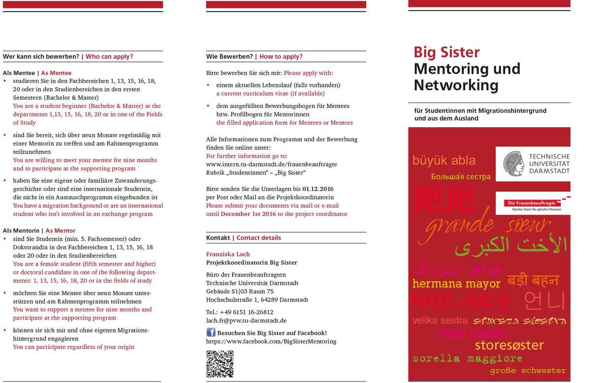 Etit Tu Darmstadt On Twitter Das Programm Big Sister Bietet