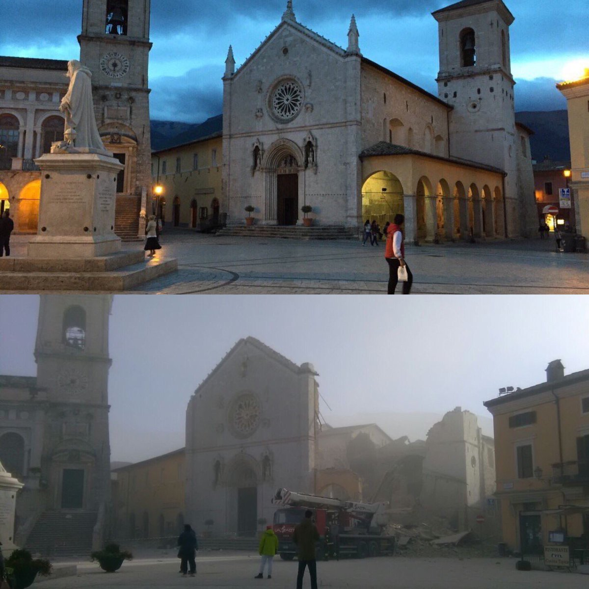 È un disastro #Norcia #terremoto #earthquake #italy https://t.co/qqPEGGy7Jx