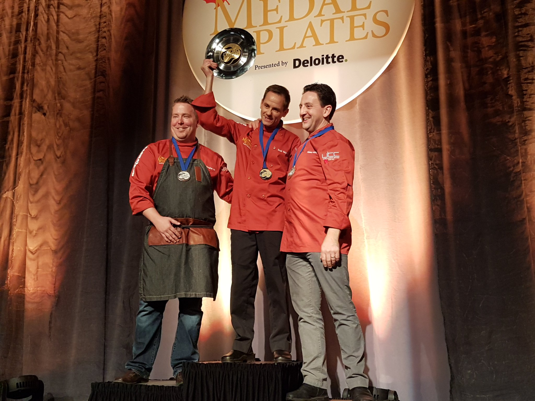 🏅 Podium finishers at #GMPSaskatoon: GOLD chef Scott Torgerson, silver @chef_ChrisHill, bronze @chef_ant. Congratulations! https://t.co/WVLTy9n4WU