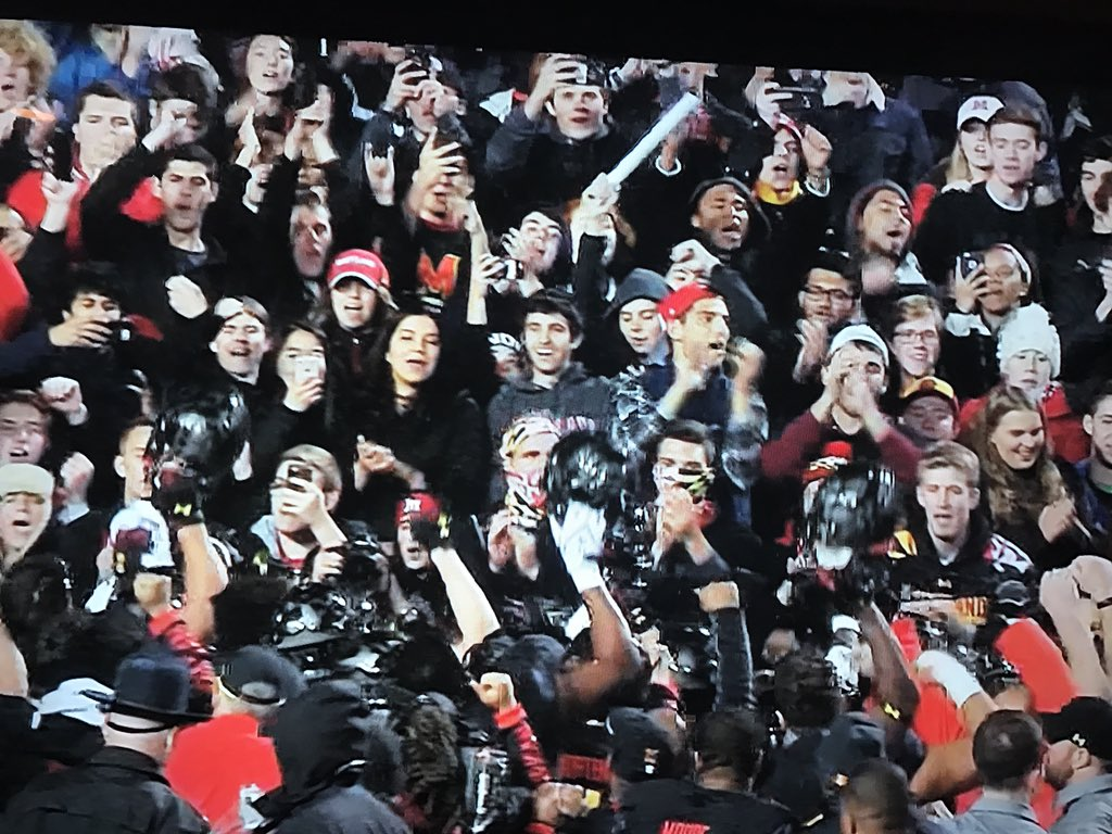 Great party for a great win! Maryland first win over MichiganState since 1950.(didn't meet for 64 yrs).. still