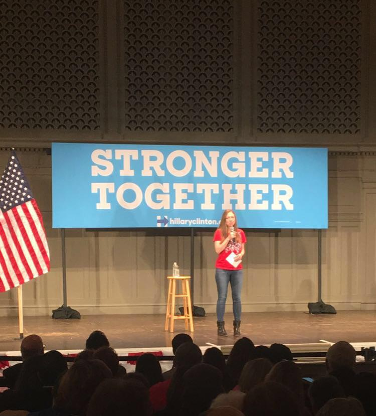 .@ChelseaClinton is in Seattle today, and she needs your help to Get Out The Vote! #ImWithHer https://t.co/kKcGPdRgHw