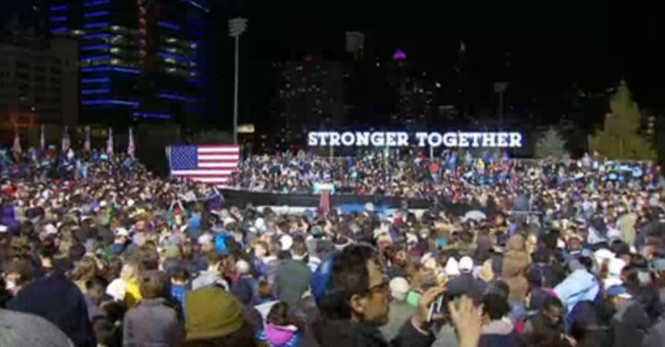 NOW: Clinton, Kaine Rally Voters at Penn Park in West Philadelphia