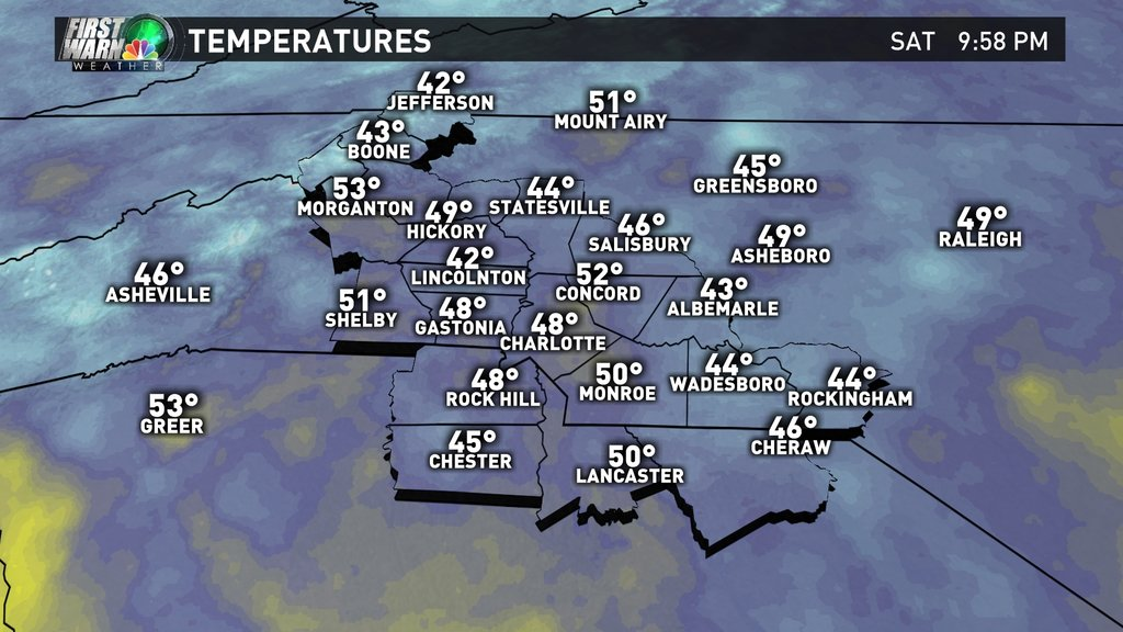 Here's a look at your 10pm temperatures. cltwx ncwx scwx