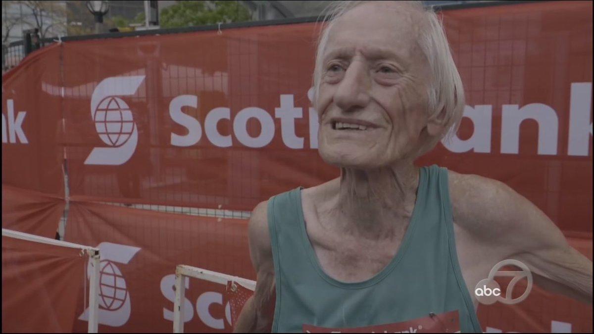 85-year-old breaks world record for running marathon abc13