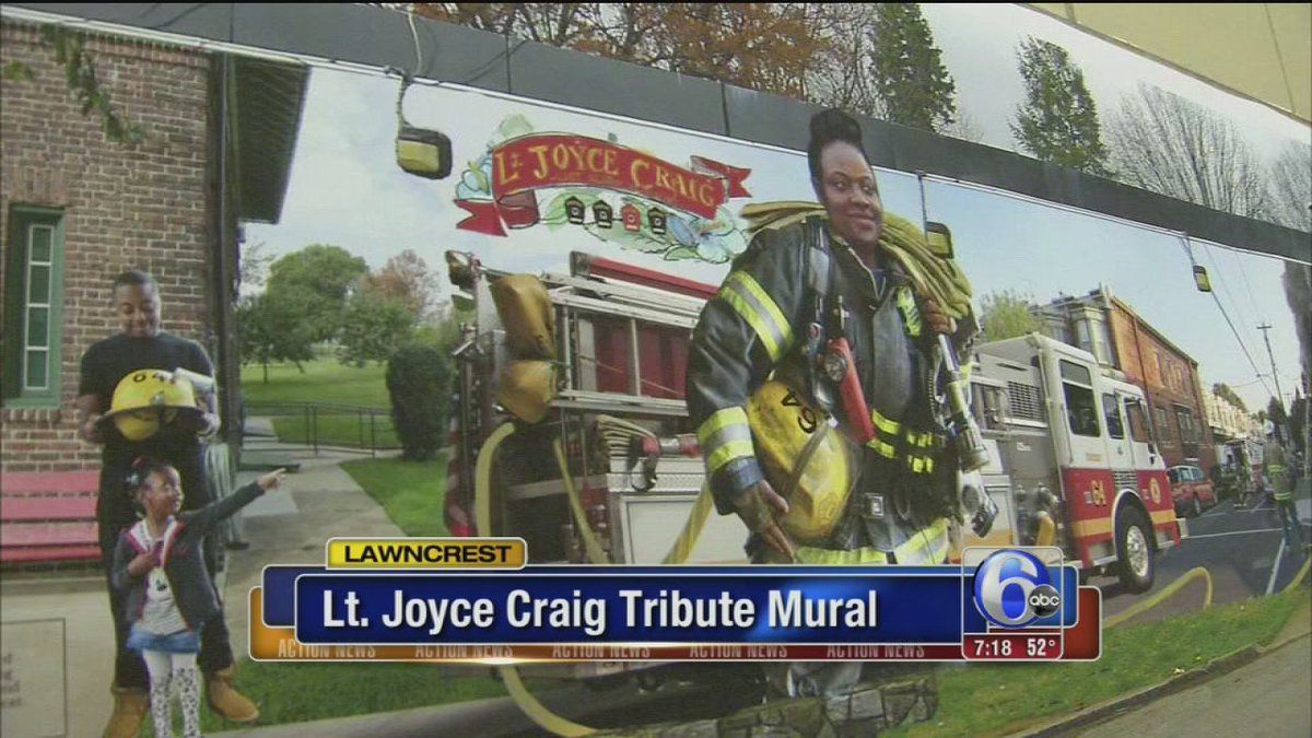 Mural to pay tribute to fallen firefighter, Lt. Joyce Craig
