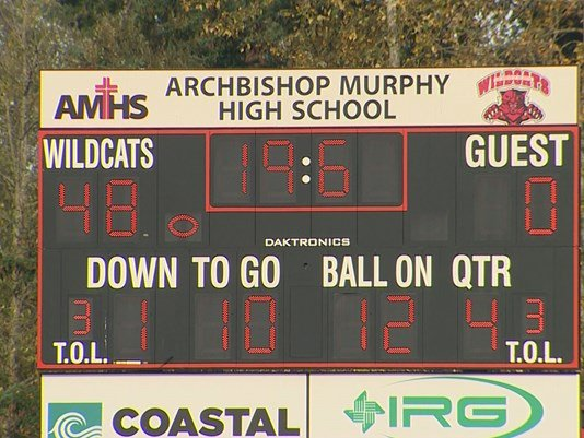 After string of forfeits, Archbishop Murphy football took the field against Olympic HS