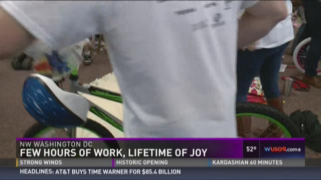 Few hours of work, lifetime of joy