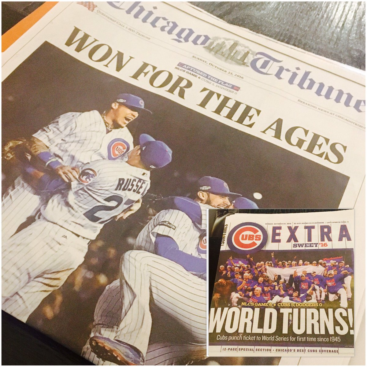 Front pages today cubs