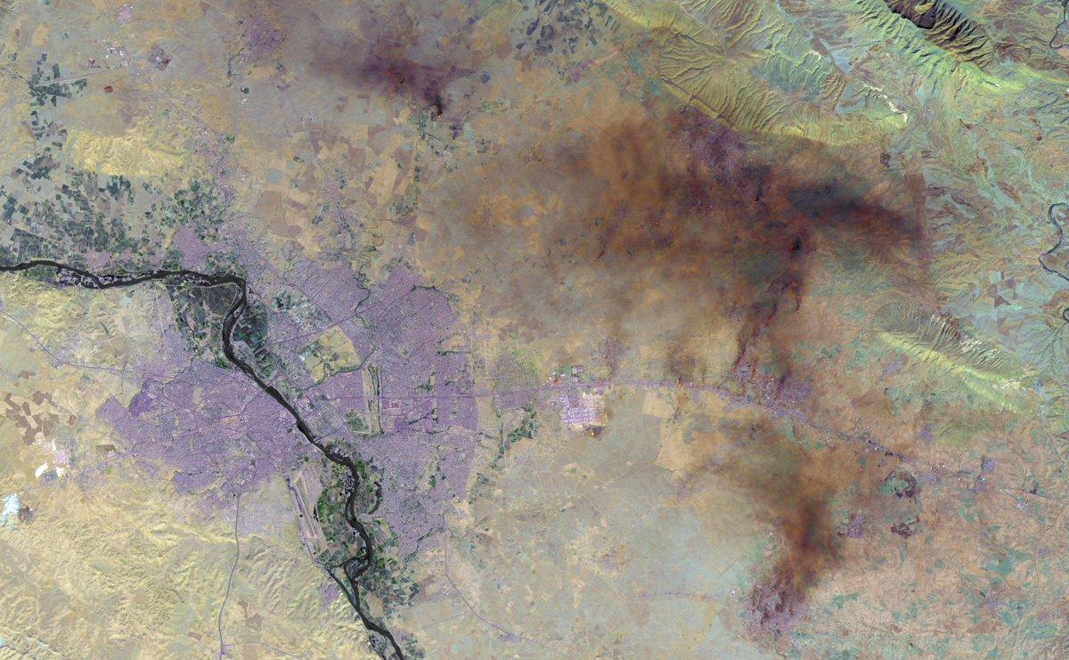 Наступление на Мосул. Вид из космоса