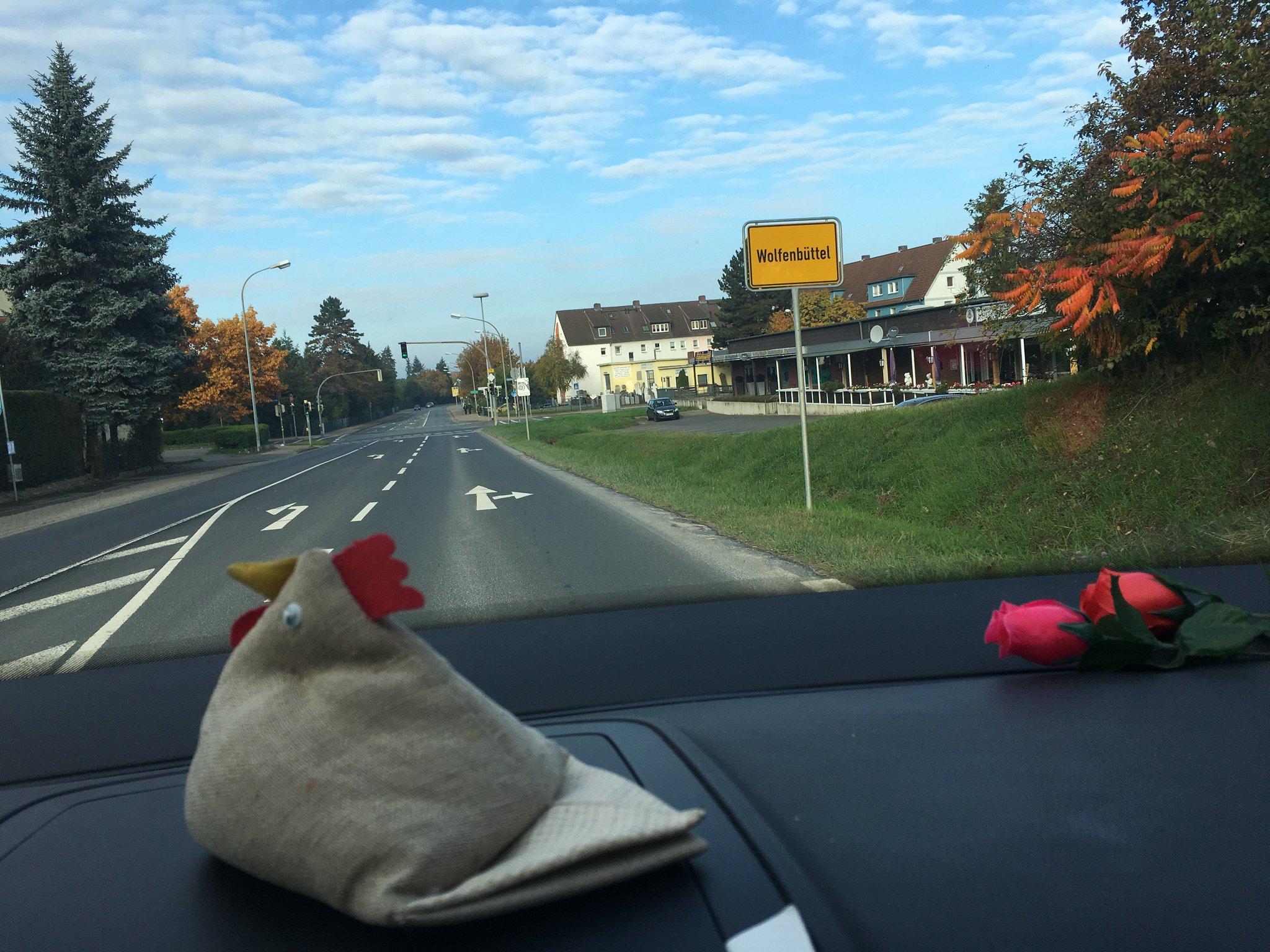 Und Ankunft in Wolfenbüttel. Angenehm kurze Anreise #meurers #echtlessig https://t.co/g0674JQNNI