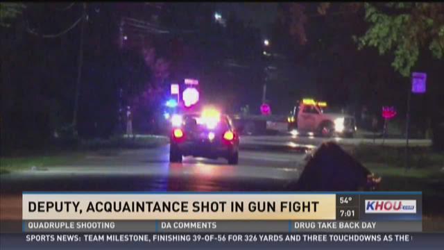 Deputy shot by acquaintance in gun fight