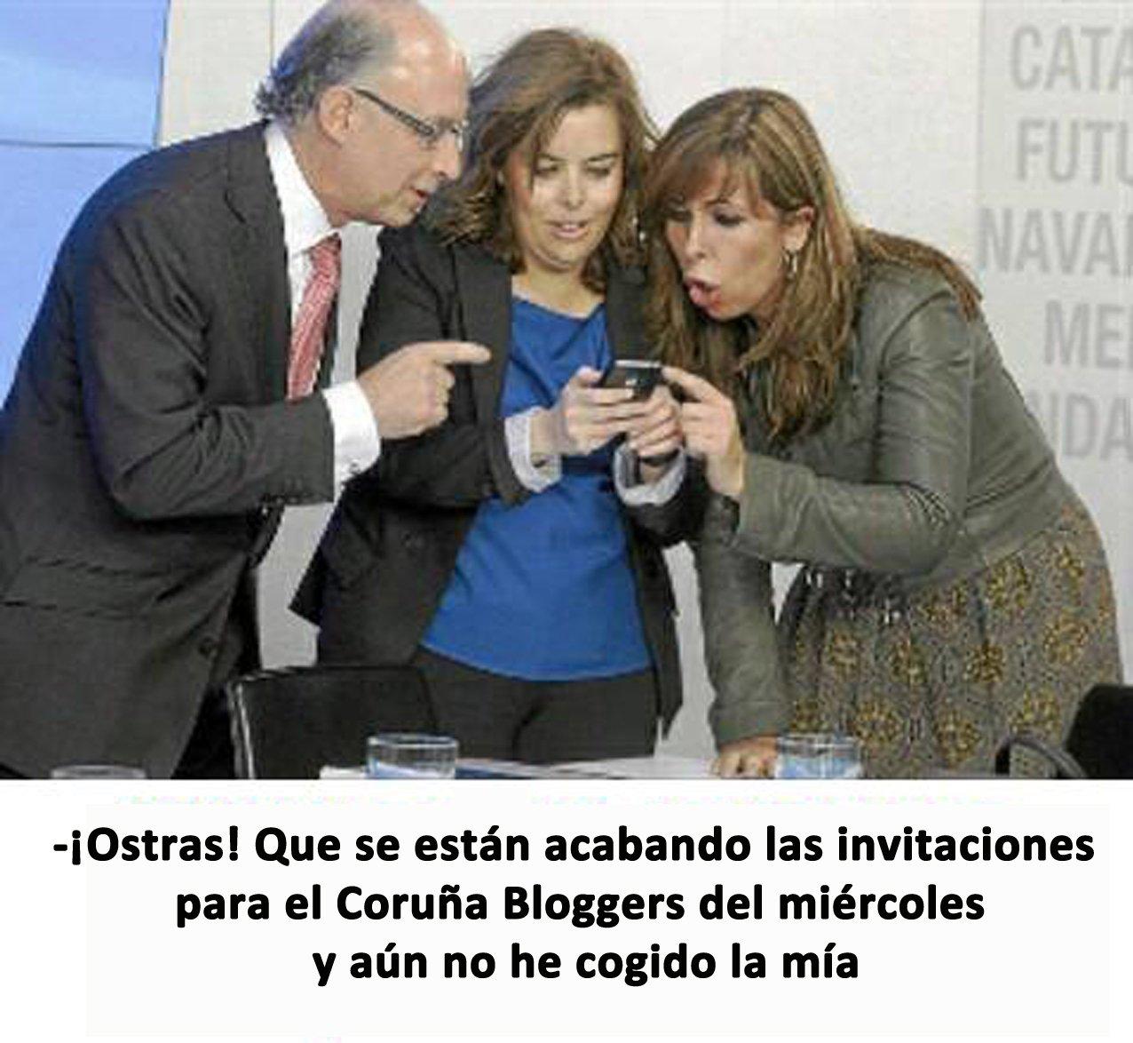 ¿Ya tienes tu invitación para #CoruñaBloggers? ➡➡➡ https://t.co/v0O5hbRD6Y Con @sonoia de @omundoaoreves y @marcusfernandez de @codigocero https://t.co/wcKBejIpjK