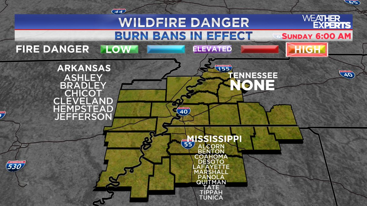 More on the rising wildfire danger in the MidSouth coming up on WREG @3onyourside Daybreak. StayTuned