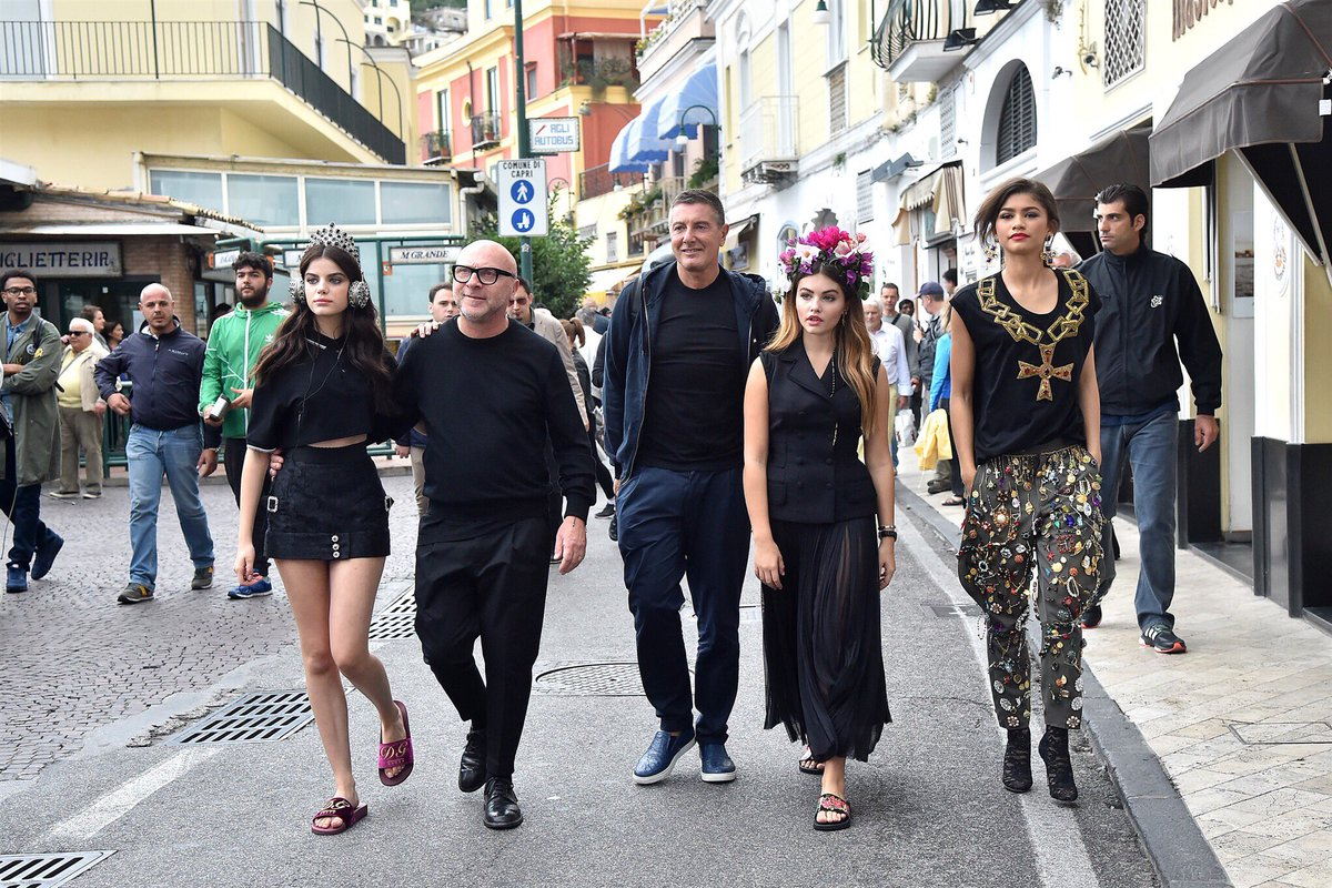 Domenico Dolce and Stefano Gabbana enjoying #DGMillenials during the #DGCampaign in Capri #DGSS17