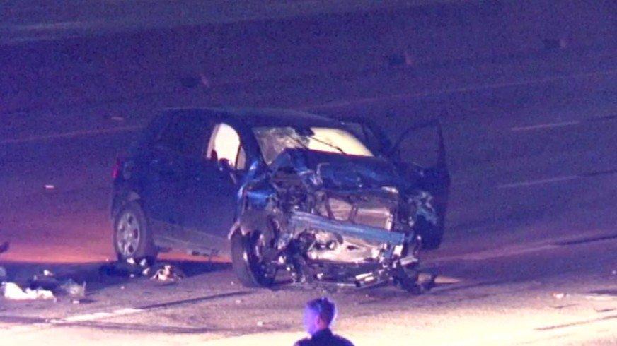 Woman dies in car accident on Katy Freeway, multiple injuries.