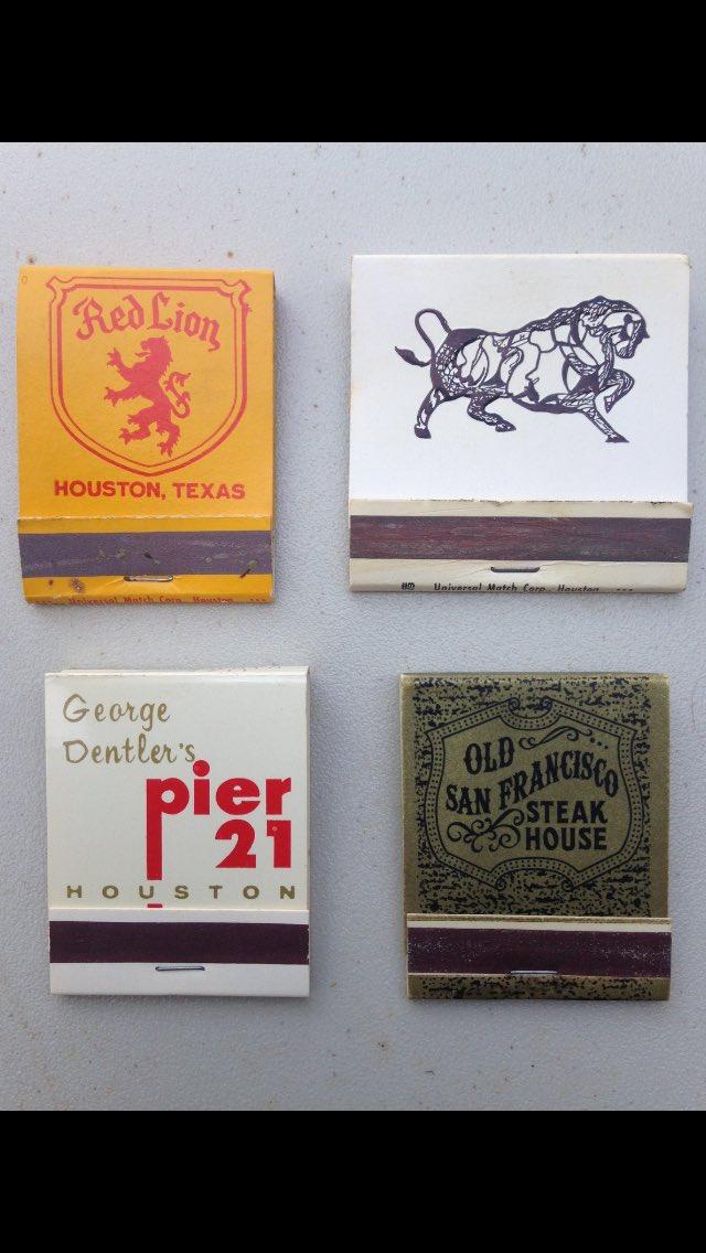 Matchbooks of Houston restaurant past. khou HouNews