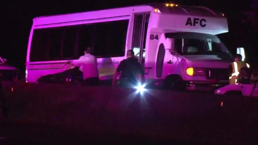 Man fatally hit by limo bus while walking I-45 North.
