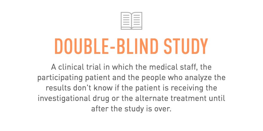 What is a double-blind experiment? What are some examples?
