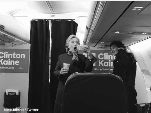 The moment Hillary Clinton learned the Chicago Cubs are World Series-bound
