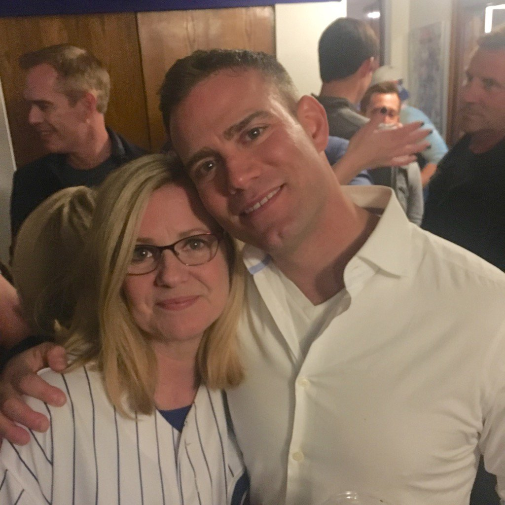 """Theo: """"You smile, soak it all in...and then get back to work to win 4 more."""" @Cubs #FlyTheW #GoCubsGo #TheoEpstein https://t.co/37UPMVYPUn"""