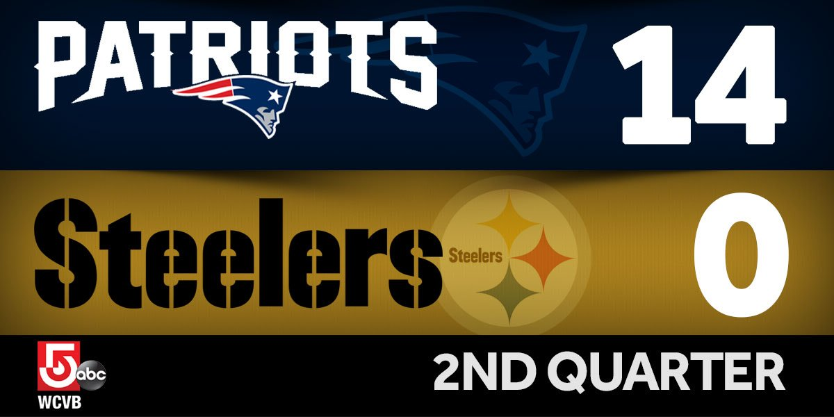 Steelers face Blount force. Patriots 2nd TD of game. NEvsPIT