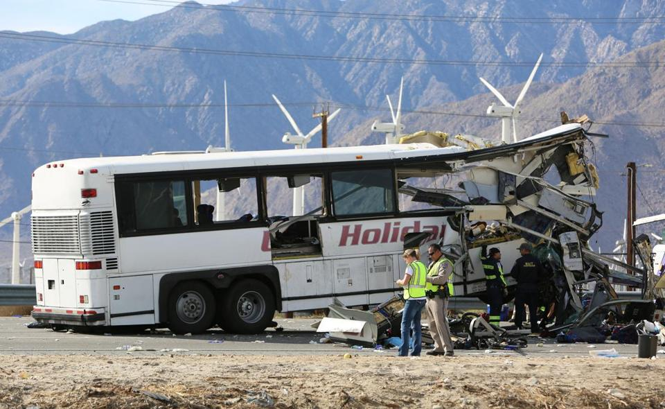 13 people killed, 31 injured after tour bus rear-ends semi truck in California