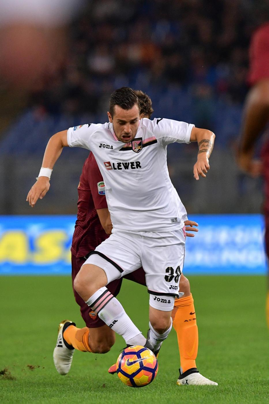 Nestorovski during the game; photo: AS Roma