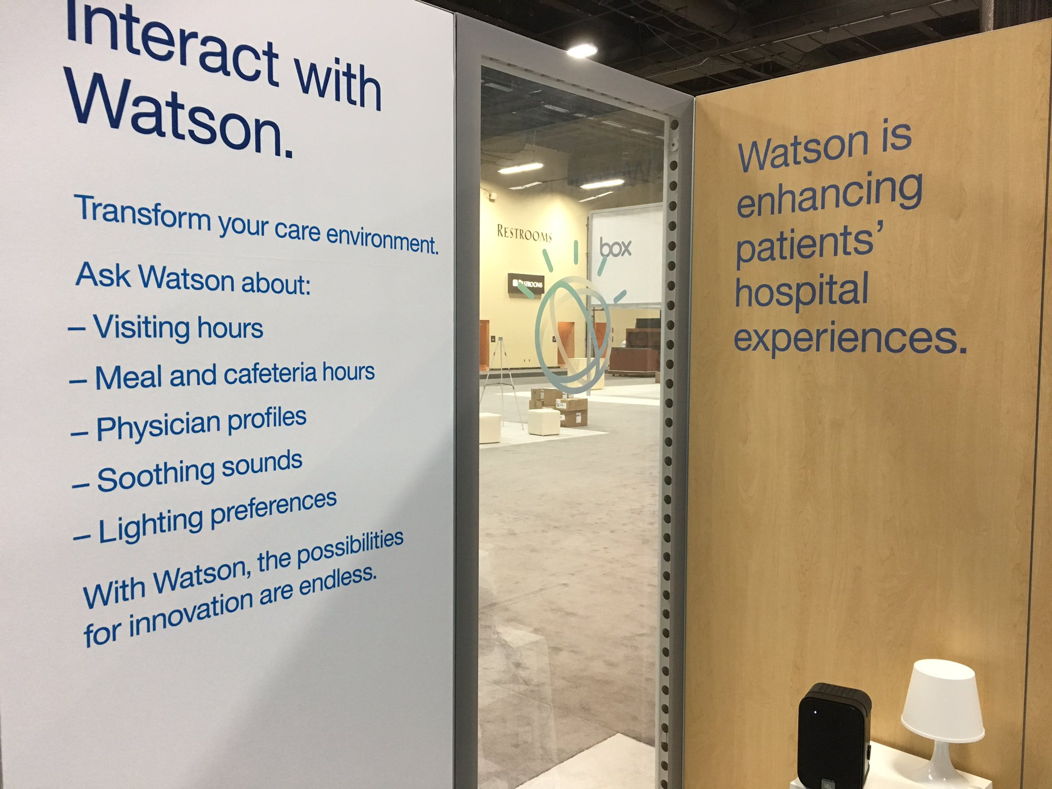 Helping setup the patient experience demo #ibmwow https://t.co/1hZElbyuhl