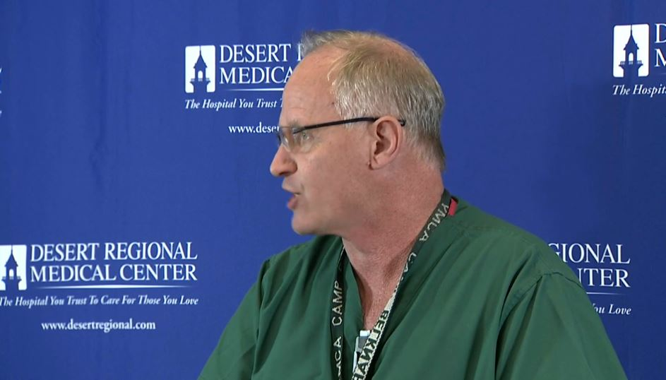 Surgeon at Desert Regional Med says none of the patients treated spoke English
